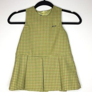 Absorba, girl's size 110 (4T) plaid jumper.